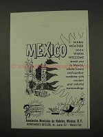 1956 Mexico Tourism Ad - Warm Weather and Welcome
