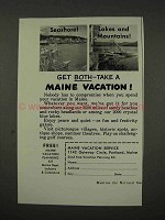 1956 Maine Tourism Ad - Seashore Lakes Mountains