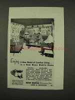 1956 New Moon Mobile Home Ad - Carefree Living