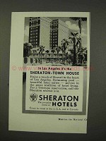 1956 Sheraton Hotel Ad - Los Angeles Town House