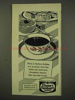 1956 Chase & Sanborn Coffee Ad - Hotels Restaurants
