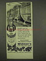 1956 Widmer's Port Ad - Costly, Old-World Way