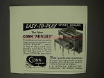 1956 Conn Minuet Spinet Organ Ad - Easy-to-Play