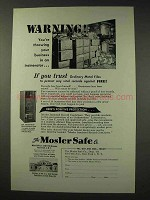 1949 Mosler Insulated Record Container Safe Ad