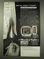 1949 Mosler Safe Ad - Think Your Company is Fireproof?