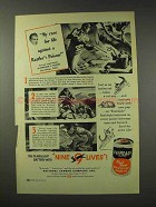 1949 Eveready Batteries Ad - Race Rattler's Poison