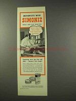 1949 Simoniz Wax Ad - Motorists