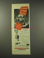 1949 Johnson QD Outboard Motor Ad - Neutral