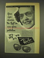 1949 Ray-Ban Sunglasses Ad - Aunalee Crusey