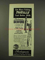 1949 Shakespeare Wexford Fishing Line Ad - More Thrills