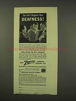 1949 Zenith Radionic Hearing Aid Ad - Your Deafness