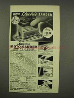 1949 Dremel Moto-Sander Ad - New Electric Sander