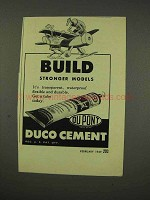 1949 Du Pont Duco Cement Ad - Build Stronger Models