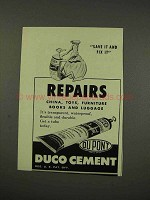 1949 Du Pont Duco Cement Ad - Repairs