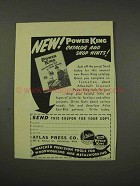 1949 Atlas Press Power King Tools Ad