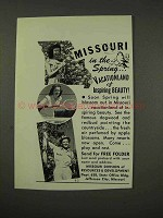 1949 Missouri Tourism Ad - In the Spring