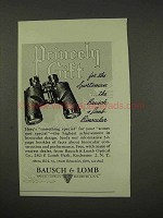 1949 Bausch & Lomb Binoculars Ad - Princely Gift
