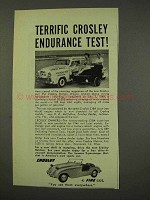 1949 Crosley Station Wagon Ad - Endurance Test