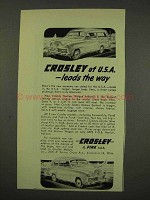 1949 Crosley Station Wagon Ad - Leads the Way