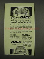 1949 Crosley Car Ad - Big New