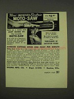 1949 Dremel Moto-Saw Ad - New Improved