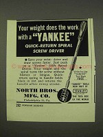 1949 Yankee Quick-return Spiral Screw Driver Tool Ad