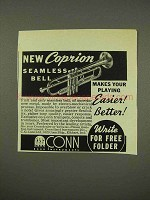 1949 Conn Coprion Seamless Bell Trumpet Ad