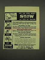 1949 Shaw Du-All Tractor Ad - Save Time, Money