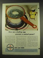 1948 Koppers Gas and Coke Ad - A Boiling Egg
