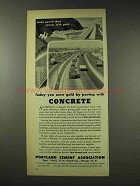 1948 Portland Cement Ad - Save Gold Paving With