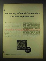 1948 Warner & Swasey Machine Tools Ad - Communism