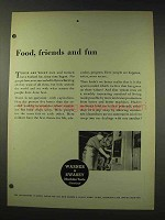 1948 Warner & Swasey Machine Tools Ad - Food, Friends