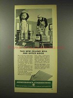 1948 Armstrong Cushiontone Ceiling  Tile Ad - End Noise