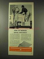 1948 Armstrong Cushiontone Ceiling Tile Ad - Efficiency