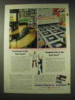 1948 Armstrong Linoleum and Asphalt Tiles Ad