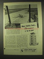 1948 Libbey Owens Ford Thermopane Glass Ad - Visibility