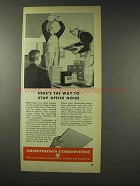1948 Armstrong Cushiontone Ceiling Tiles Ad - Noise