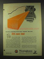1948 Westinghouse Ad - Mill Roll 20% More Steel