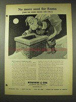 1948 Bituminous Coal Ad - No More Soot for Santa