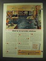 1948 Armstrong Linoleum Floor Ad - Up-to-Date Classroom