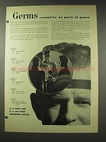 1948 U.S. Army Ad - Germs Recognize No Pacts of Peace