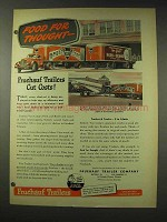 1948 Fruehauf Trailers Ad - Food For Thought