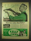 1948 Kelly Springfield Tires Ad - Know-How Makes Them Better