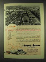 1948 Norfolk and Western Railway Ad - You Use Coal