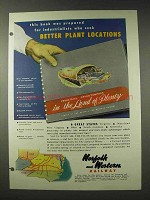 1948 Norfolk and Western Railway Ad - Plant Locations