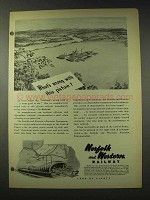 1948 Norfolk and Western Railway Ad - What's Wrong?