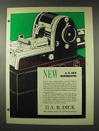 1948 A.B. Dick 400 Line Mimeograph Ad