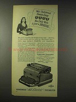 1948 Underwood All Electric Typewriter Ad - Finger-Form