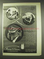 1948 Edison Electronic Voicewriter Ad - Executives