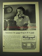 1948 Multigraph Duplicating Ad - Wrong to Write
